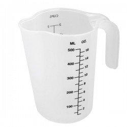 Jarra medidora polipropileno 1/2 litro